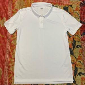 Old Navy White Collar Uniform Shirt XL